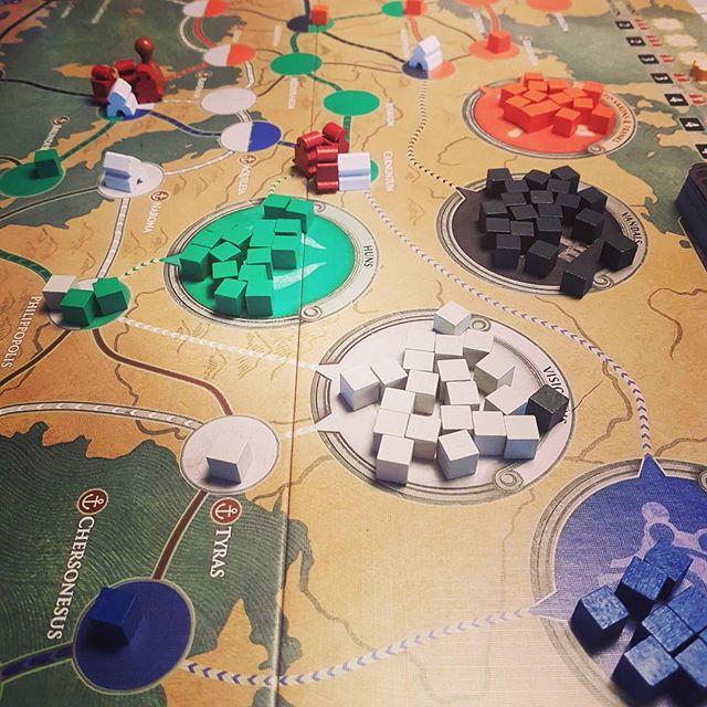 Når alle veje føre til Rom, og det er en blanding af Pandemic. Vores næste podcast bliver om forskellige udgaver af pandemic #brætspil #pandemic #fallofrome