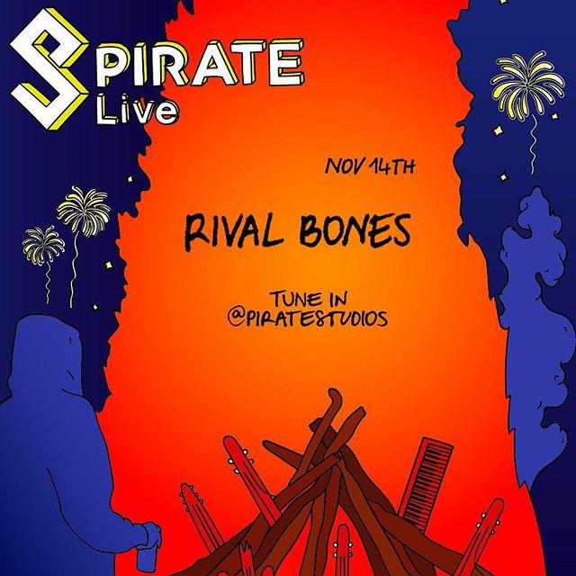 We can't WAIT to be back with our best mates at @piratestudios next week.  We've got a very special 'StrangeFruit' stream planned so make sure you tune in to hear a bunch of new stuff and some oldies. 🍎💀