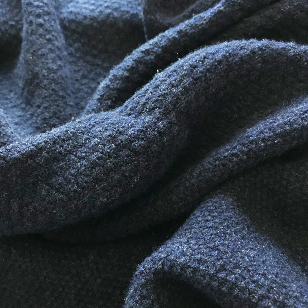 OXFORD BLUE LAMBSWOOL SCARF UK