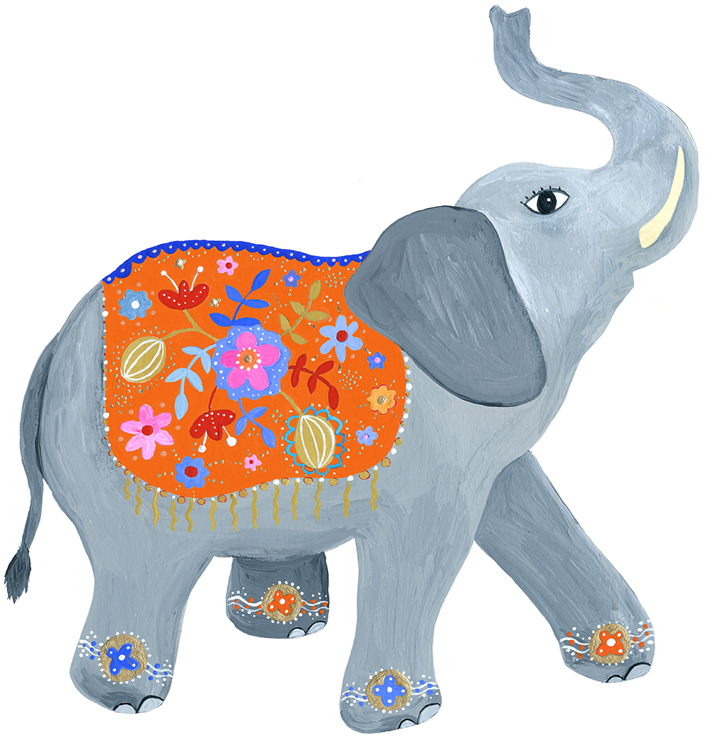 marenthe illustration lucky elephant, client Running Press.jpg