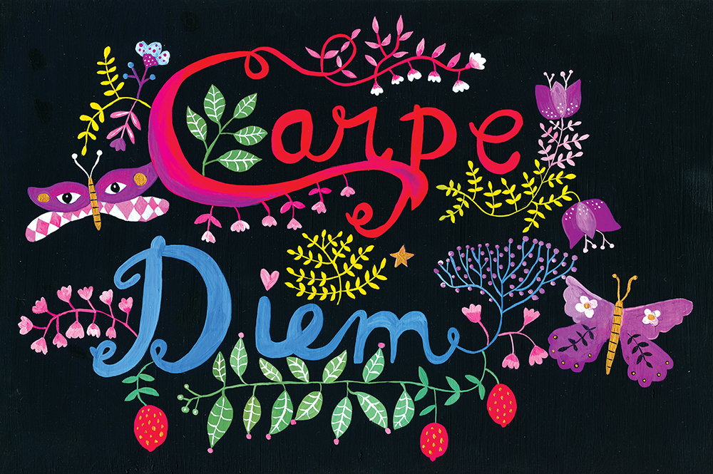 Folk art and beyond marenthe Quarto-illustration heart-Carpe Diem.jpg
