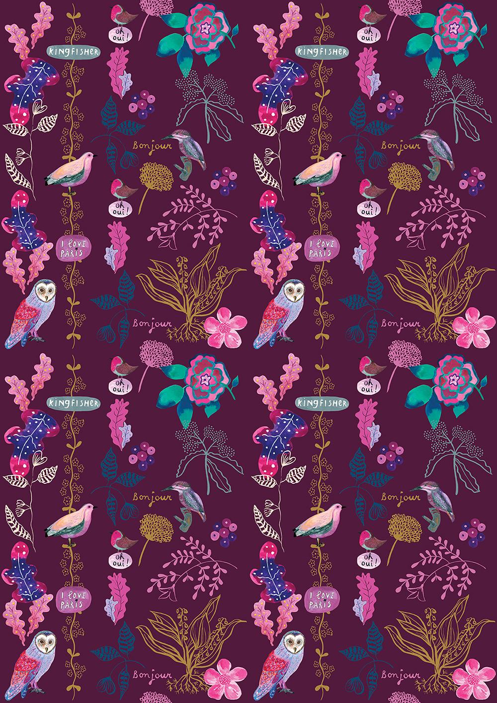 Marenthe Paris Love Nest Collection Home Decor pattern.jpg