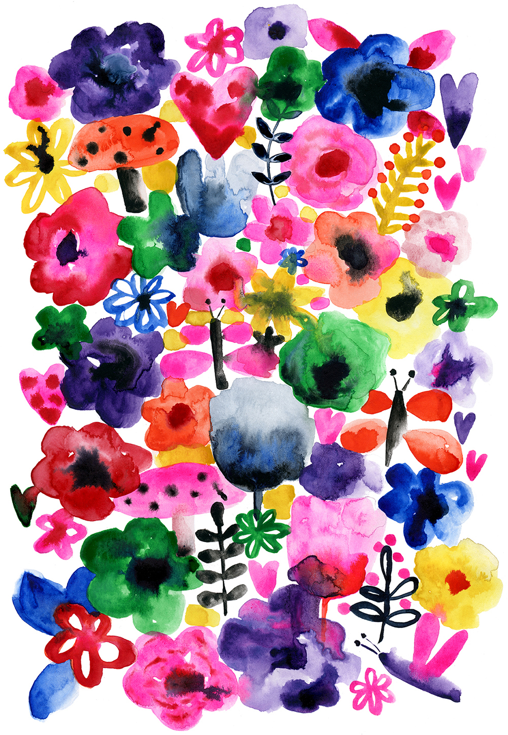 Watercolor Florals Pattern by Marenthe.jpg