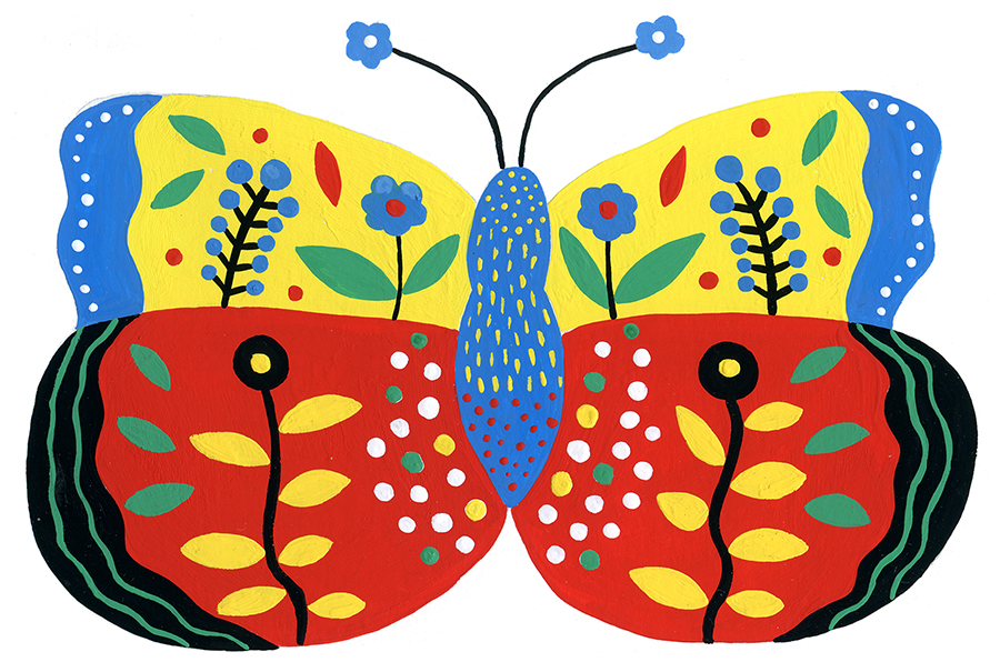 Folk Butterfly by Marenthe.jpg