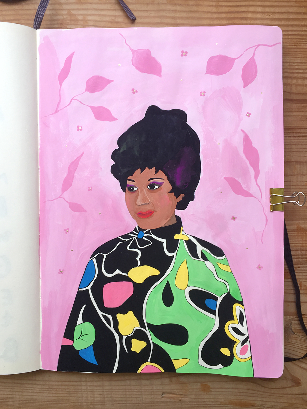 Aretha Franklin illustration by Marenthe