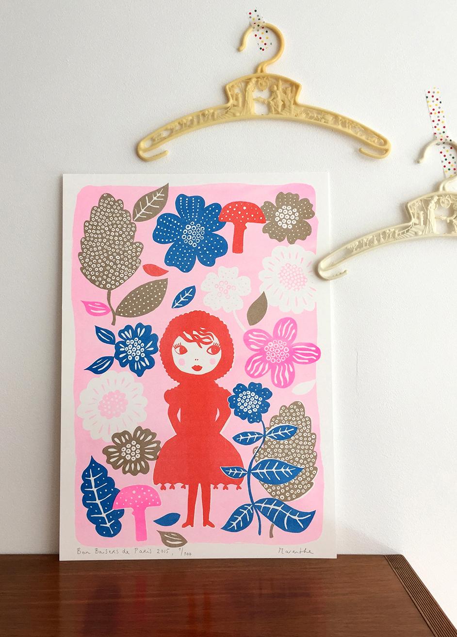 bezoek ook Marenthe's etsy shop - Hier vind je o.a. kleurrijke riso-prints (een relatief nieuwe techniek, ontwikkeld in Japan rond 1980) en bijzondere wenskaarten.
