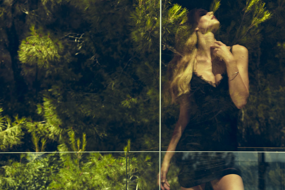 Argentovivo Jayne Moore lingerie black night slip sexy sleepwear