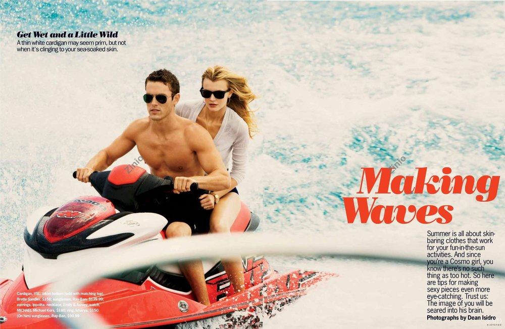 Jayne Moore Cosmopolitan Magazine Dean Isidro Beach style #yachtlife beach babe jetski lifestyle summer loving beach life Jayne Moore Jane Moore British model