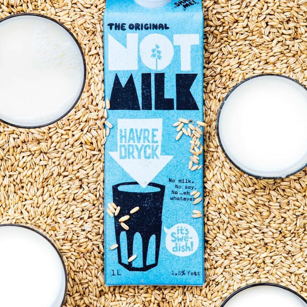 We're transitioning from almond milk to this oh so delicious oat milk by  @oatly . After much thought and consideration, we have come to the conclusion that almond milk is no longer in line with our mission. As water becomes more scarce, selling such a water intensive product is not necessary for us. Almonds are also having a negative impact on our bee populations and we want to do everything we can to support bees right now as their populations are decreasing at a frightening and unprecedented rate. We are in love with the rich, smooth flavor and texture of  @oatly  oat milk. Come in and try a sample today!