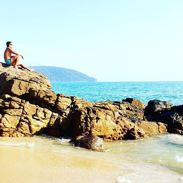 Que vista😍 . #praia #homemdaminhavida #diadohomem #paromundo