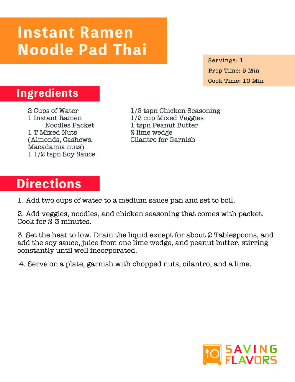 Print The Recipe