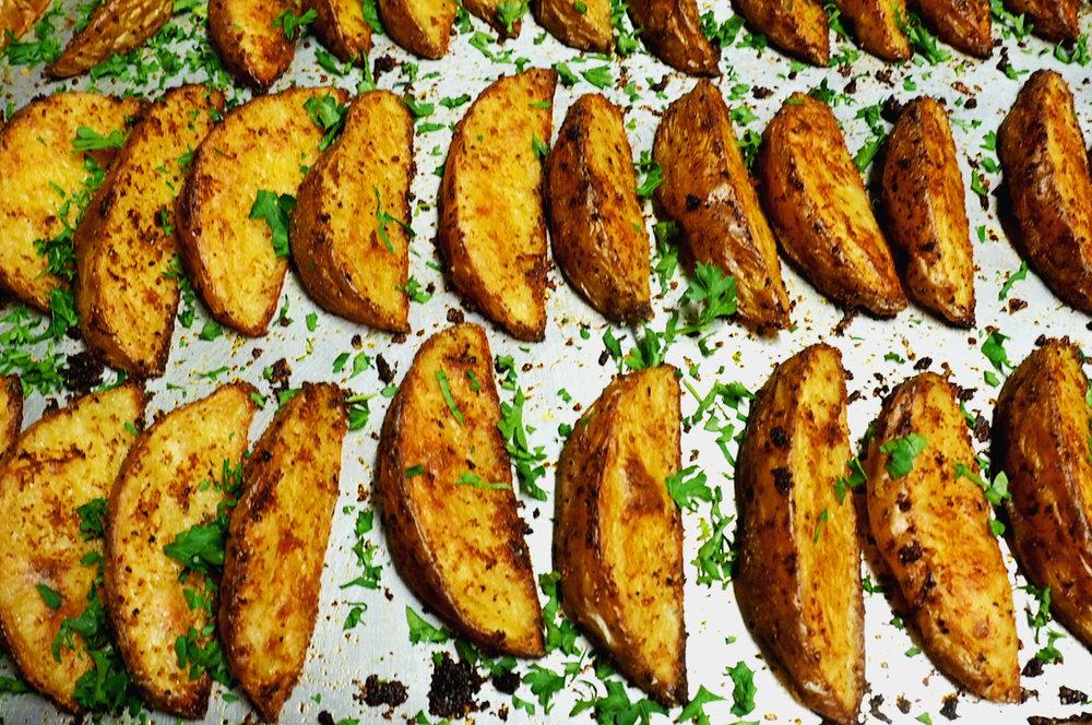 Oven Baked Crispy Potato Wedges