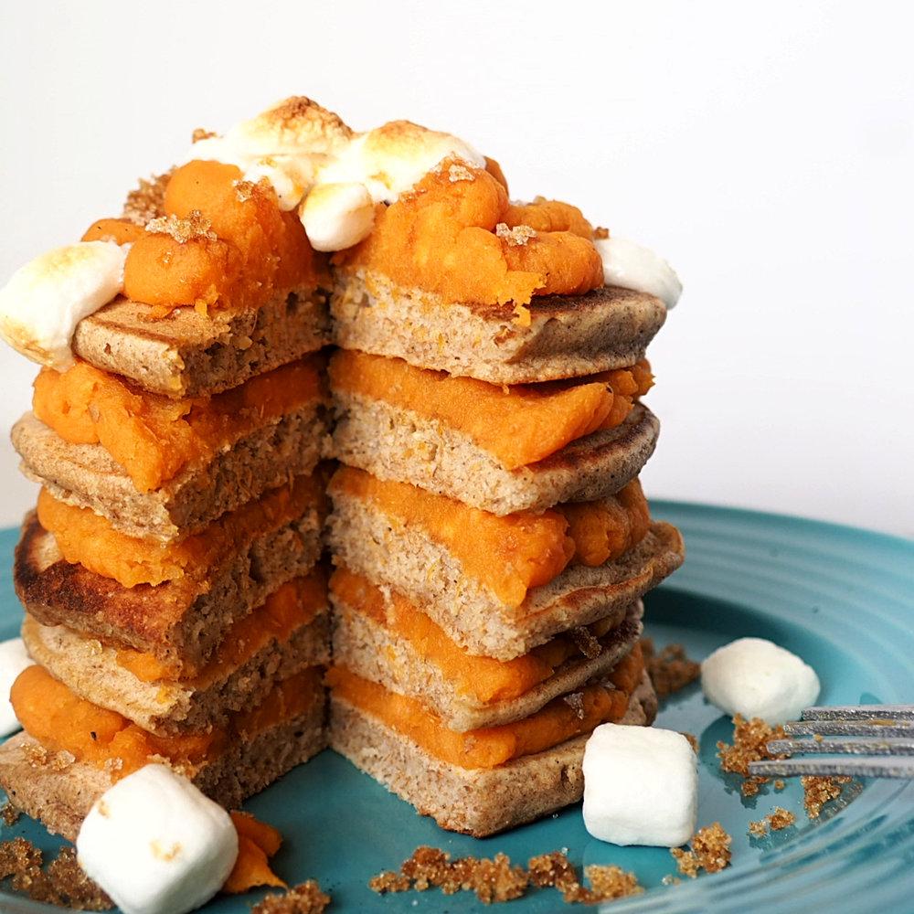Honey Wheat Sweet Potato Puree Pancakes 1.1 1.jpg