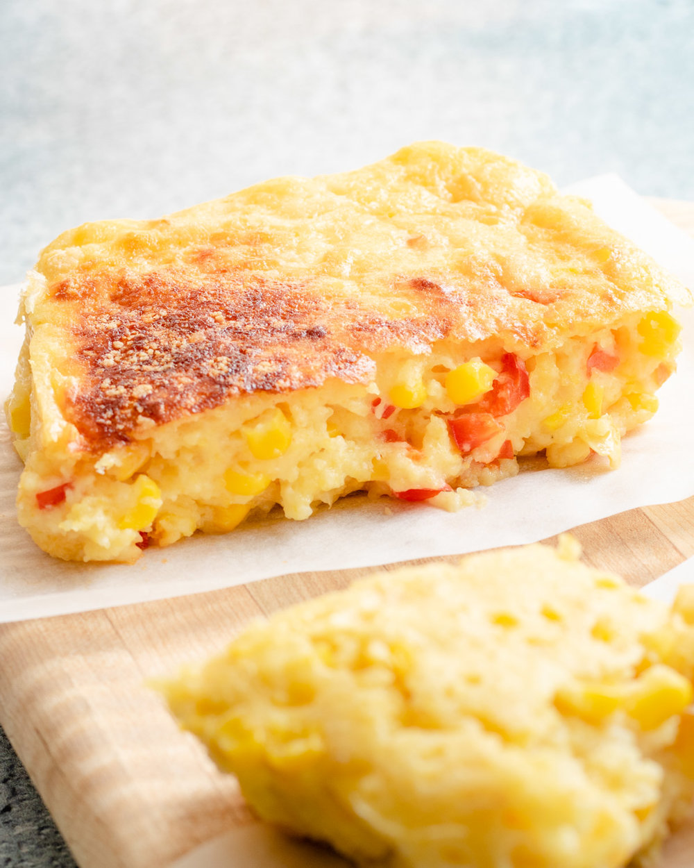 Corn Casserole Recipe with Sweet Peppers