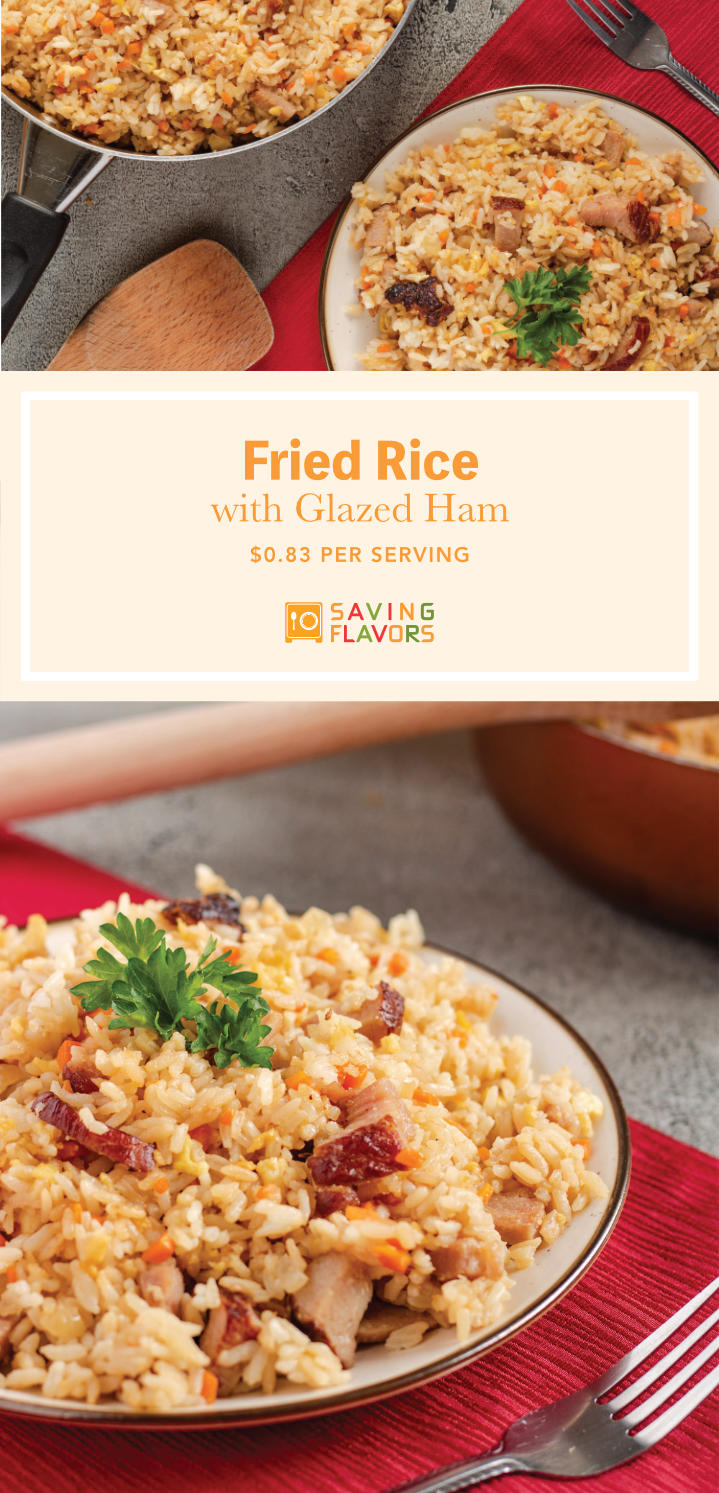 This Asian-American fried rice combines the umami flavors of soy sauce and sweetness of glazed ham into a wonderful combination of cultures. Get a taste of this deliciously sweet and salty meal using leftovers from your Thanksgiving or Christmas feast!