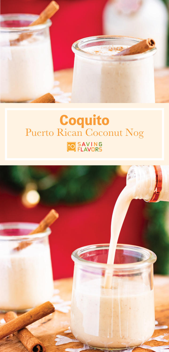 Puerto Rican Egg Nog, But There's No Eggs. Coquito means little itty bitty coconut, maybe without the extra itty bitty cuz this drink packs a bit of coconut punch, of rum I mean. Best served cold, the Puerto Rican cocktail is one you take your sweet time sippin'.