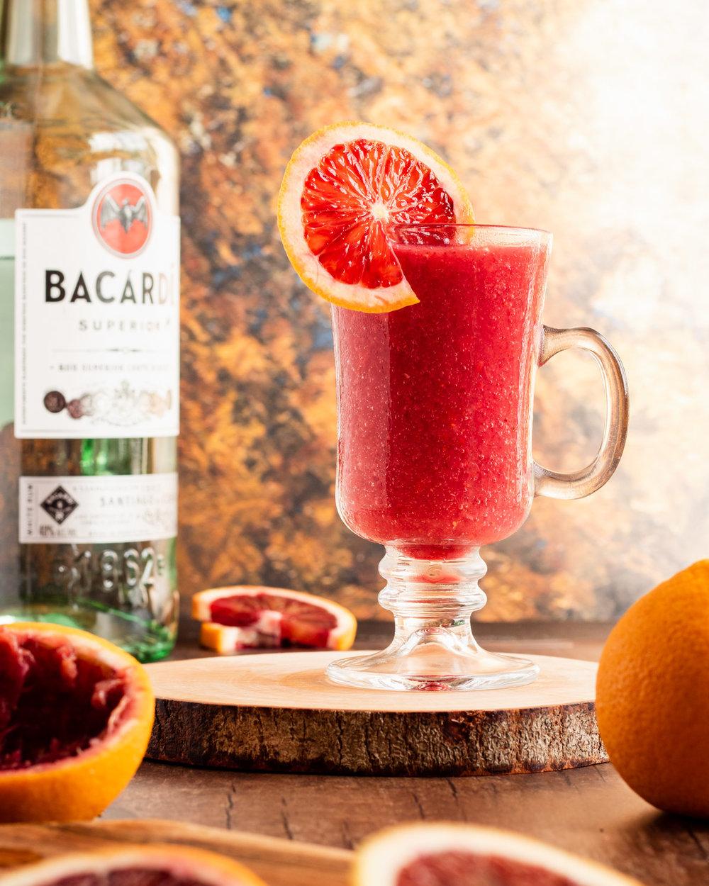 Blood Orange Strawberry Daiquiri cocktail recipe