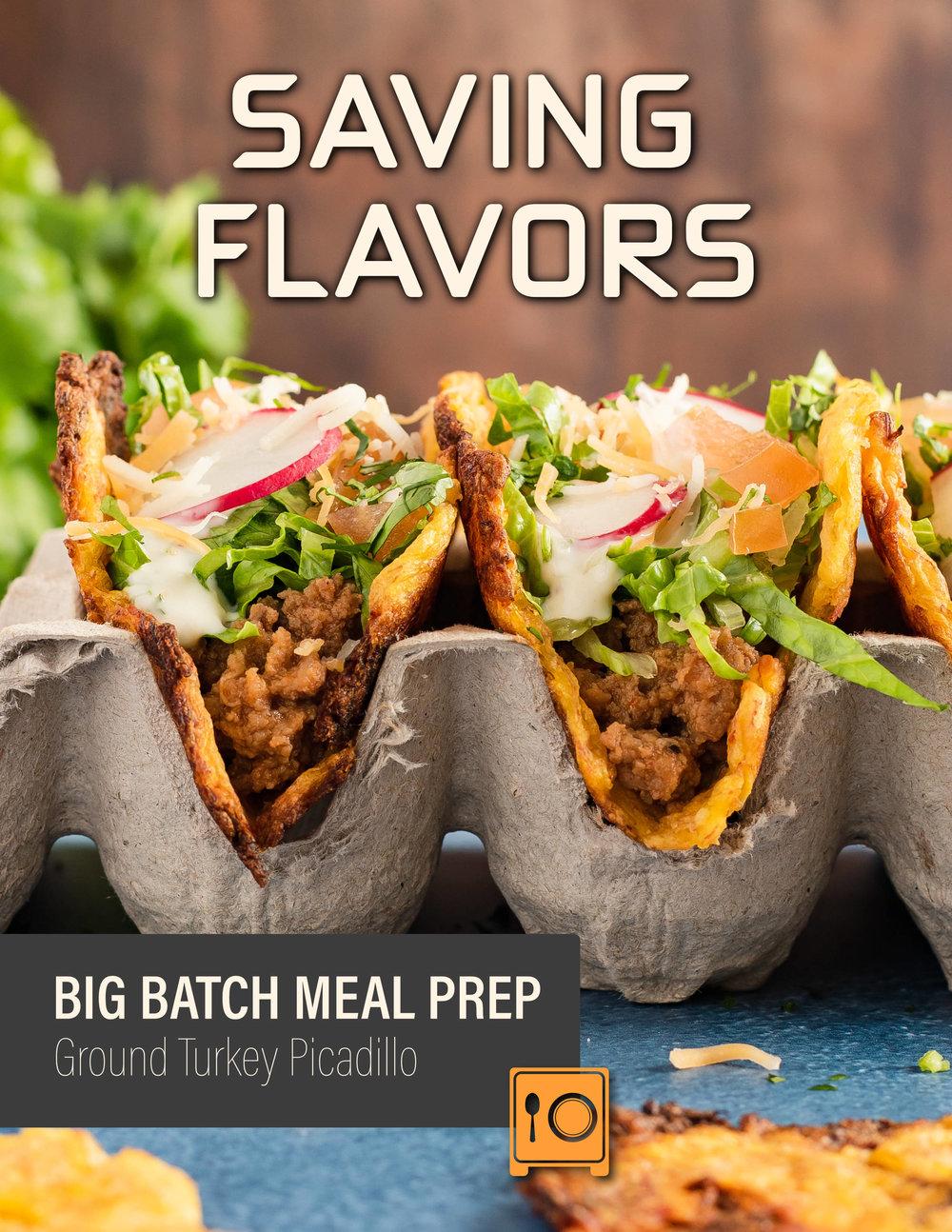 Ground Turkey Picadillo recipes e-book, big batch meal prep cookbook