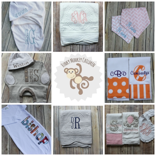 shop funky monkey children - monogrammed baby gifts and accessories