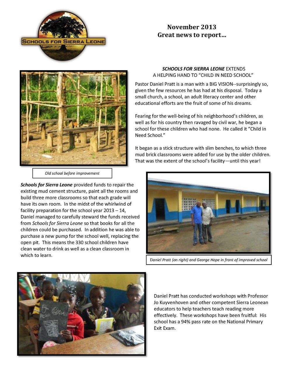 School Updates — Schools for Sierra Leone