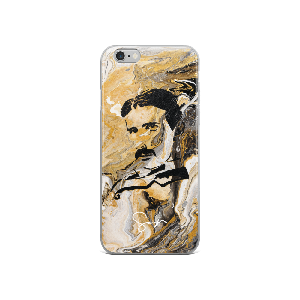 free shipping afad5 61997 Marble Tesla iPhone 6/6S Case