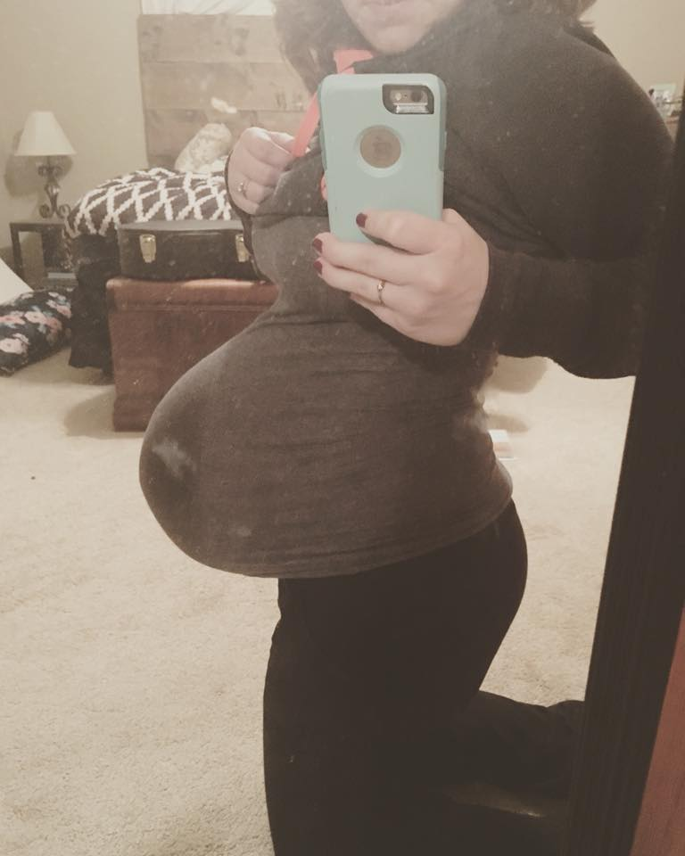 I took this 2 days before she was born! 39 weeks and 6 days.