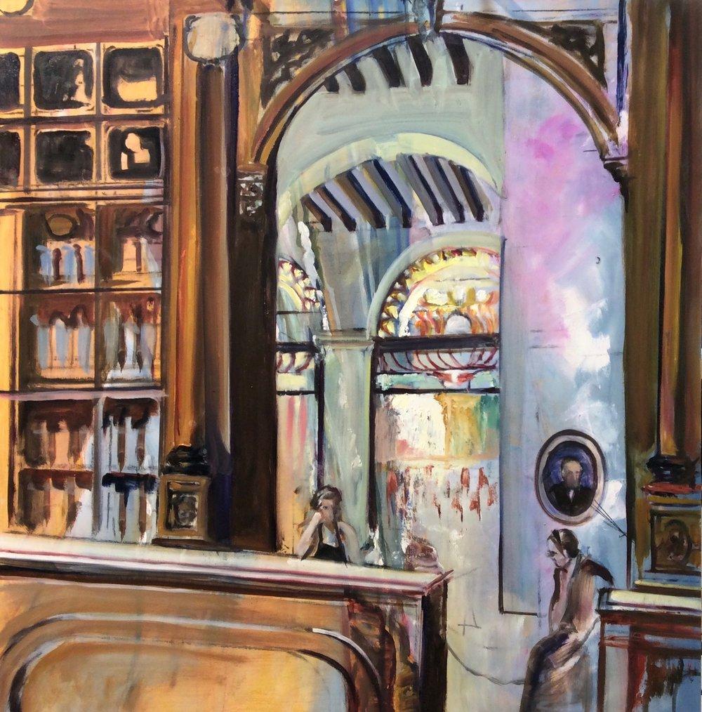 Coffee shop in Cuba   Oil  24 x24