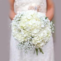 Classic (Large) Hydrangea Wedding Bouquet $120