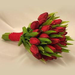 Classic Tulip Bridal Bouquet $120