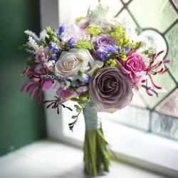 Wildflower Wedding Bouquet: $130
