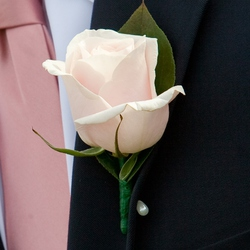 Classic Rose Boutonniere: $10