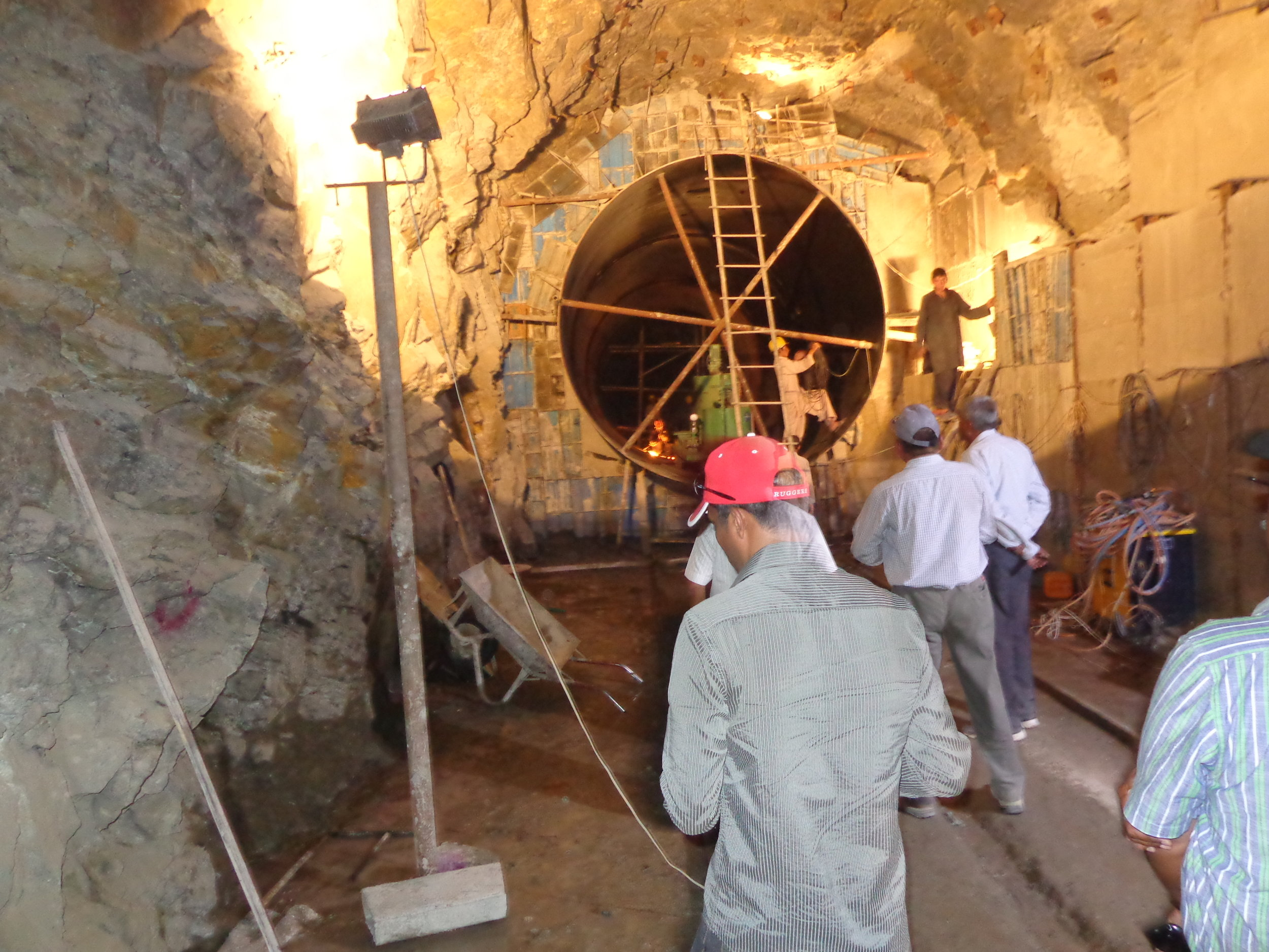 Inside the penstock tunnels