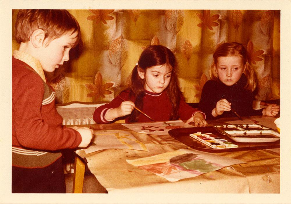 Claudia war schon im Kindesalter kreativ.