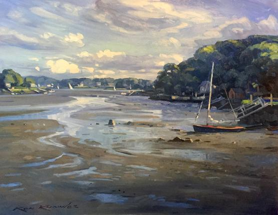 Riverdale at Lowtide ,  Ken Knowles , Oil on Canvas