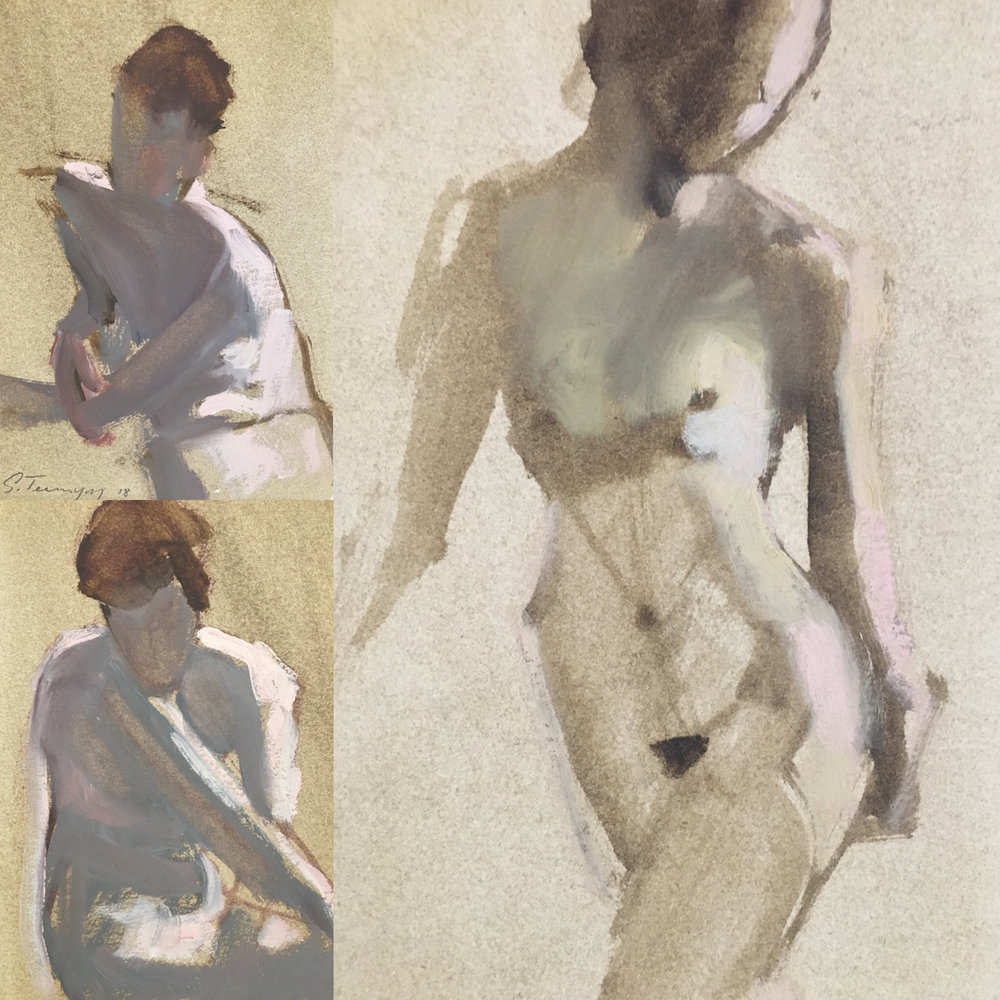 Gestures, Susan Termyn, Oil on Paper