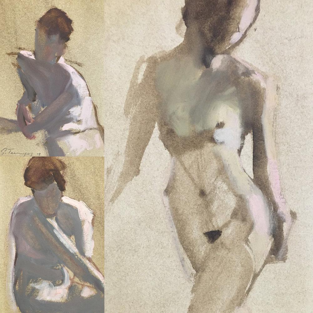 Gestures, Susan Termyn, Oil on Paper
