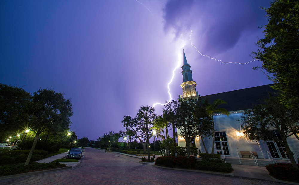Lightning over Tradition Square