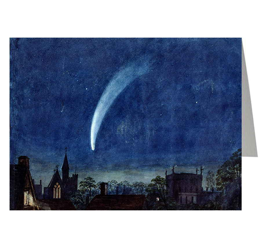 'Donati's Comet' over Balliol Chapel and Trinity College, Oxford