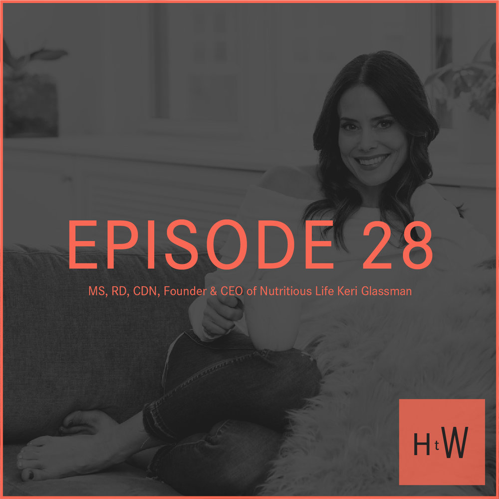EPISODE 28 :  MS, RD, CDN, Founder & CEO of Nutritious Life Keri Glassman
