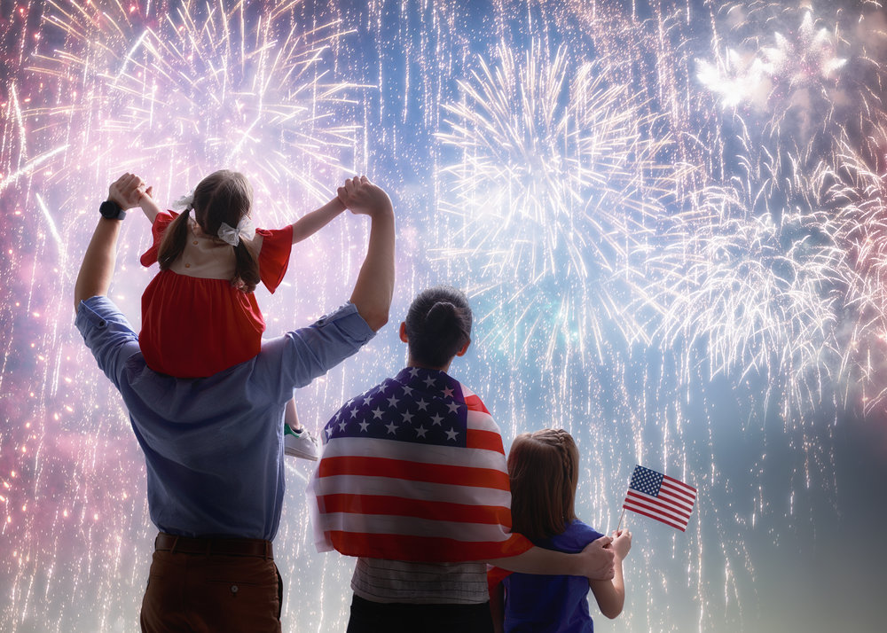 Aside from food, the number one activity families participate in together is watching firework displays. © BigStockPhoto