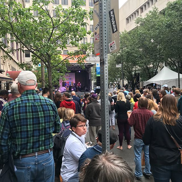Rocking it on jazz street. @xrijf @bt_trombone @jaredsims @jefferson_sean
