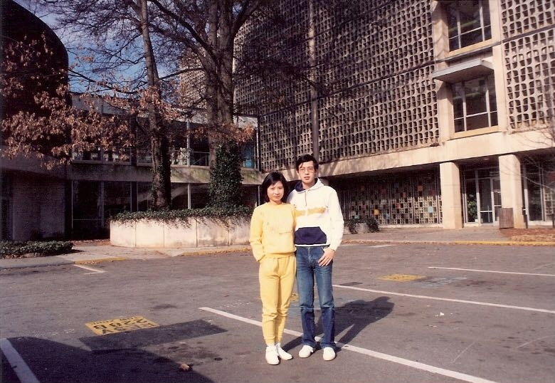 Parents in front of Georgia Tech (1989)