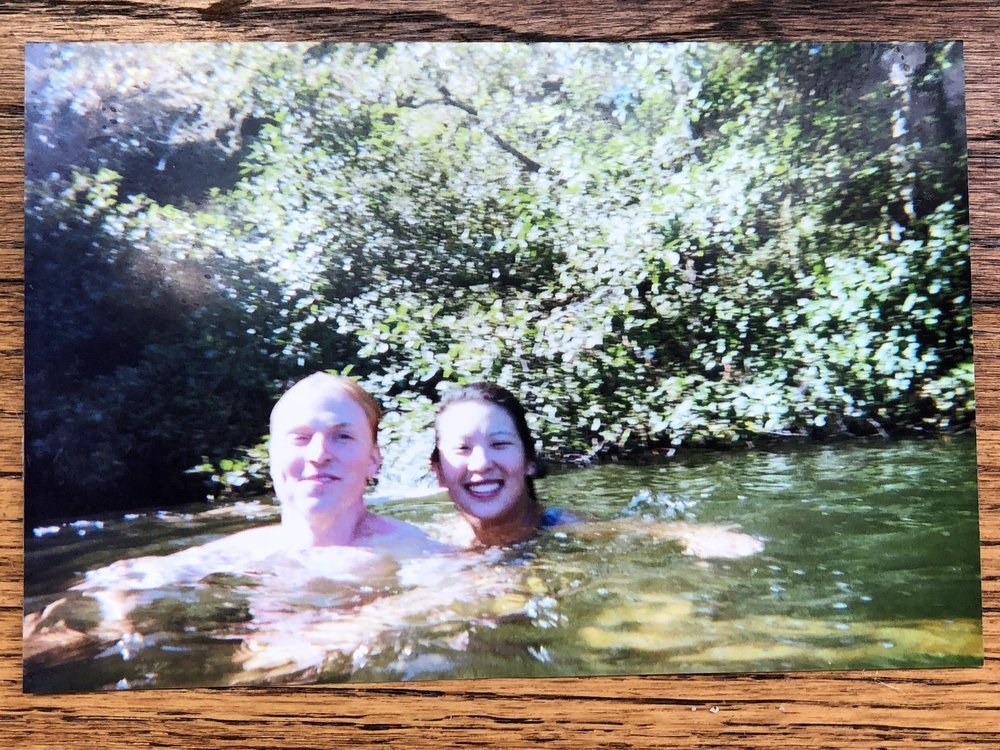Here we are swimming but we look pretty much the same when taking baths.