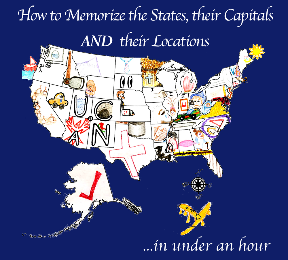 How to Memorize all 50 States, their Locations, and their Capitals ...