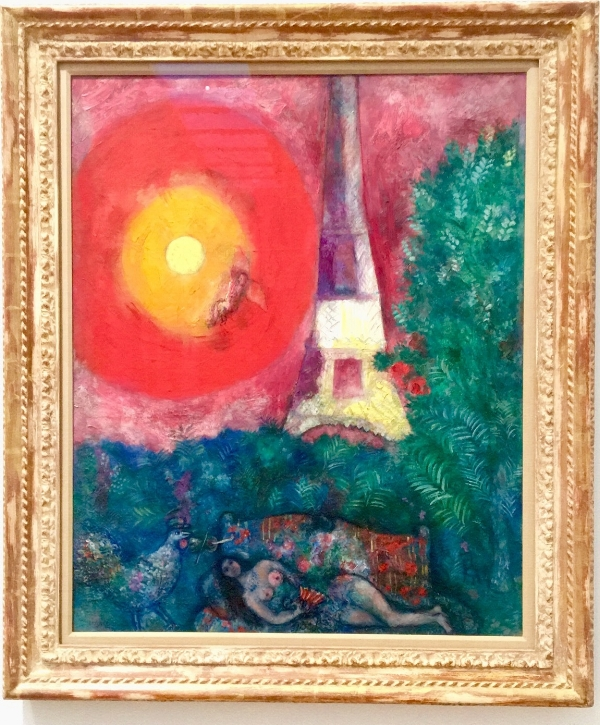La tour Eiffel  du peintre Marc Chagall. Collection du Musée des beaux-arts du Canada. Photo : E. Laberge
