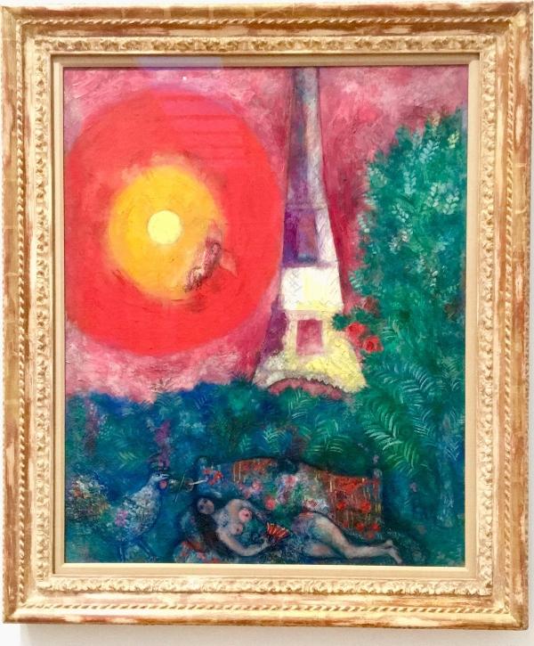 La tour Eiffel  du peintre Marc Chagall. Collection du Musée des beaux-arts du Canada. Photo : E. Laberge