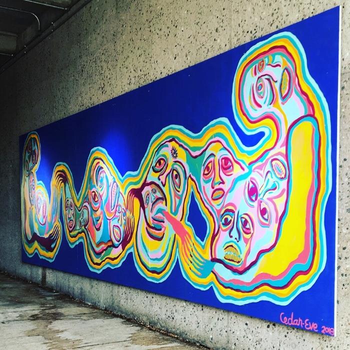 L'oeuvre de l'artiste Cedar-Eve Peters qui fait partie de l'exposition nākatēyimisowin – Prendre soin de soi