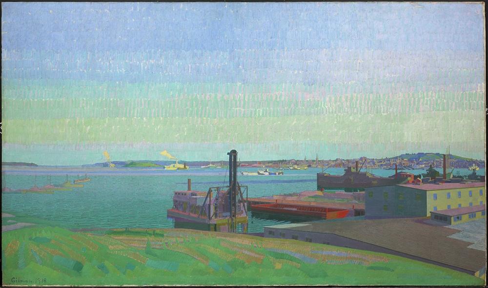 Harold Gilman,  Le port de Halifax , 1918