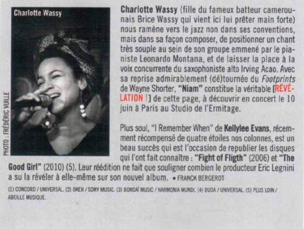Franck Bergerot - Jazz magazine - Mai 2013