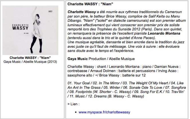 Thierry Giard - Culture Jazz - 2013